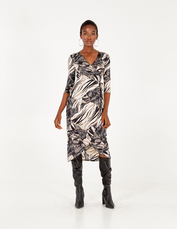 ASHLEIGH - Midi Wrap Dress
