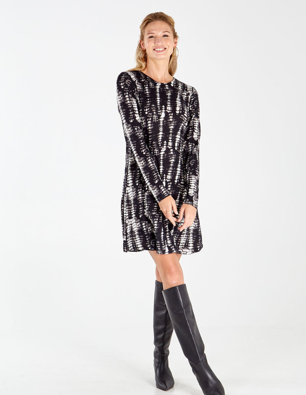 SALMA - Long Sleeve Swing Dress