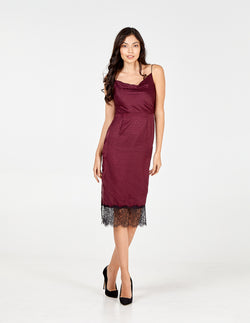 AUBREY -  Lace Hem Dress