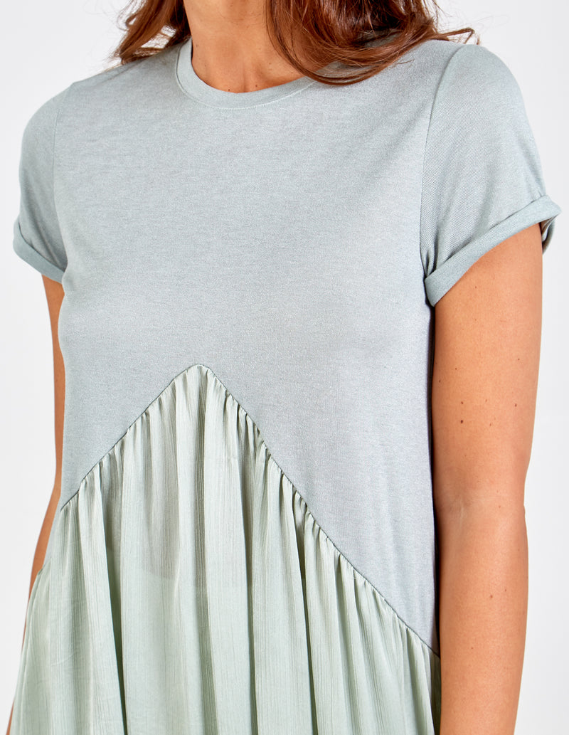 WINIFRED - 3 In 1 Pleated Tee Top