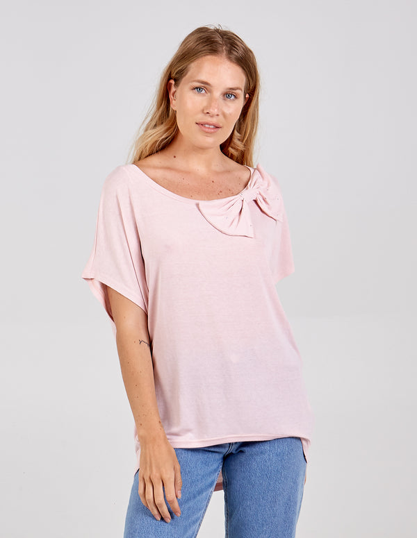 LOUISE - Oversized Diamante Bow Top