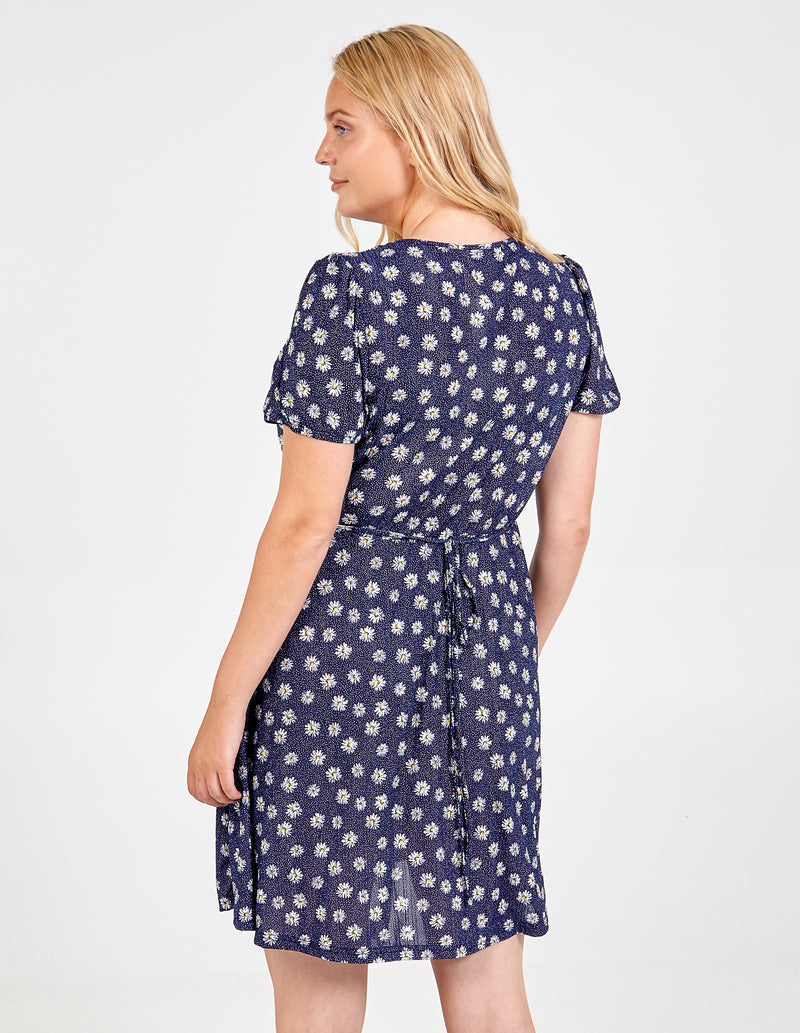 HAYA - Curve Puff Sleeve Fit & Flare Dress
