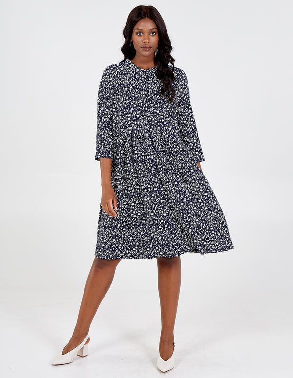 NUSAYBAH - Curve Button Down Shirt Dress