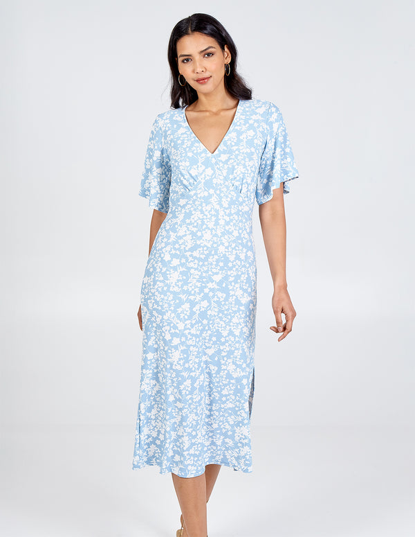 KHADIJAH - Angel Sleeve Tea Dress