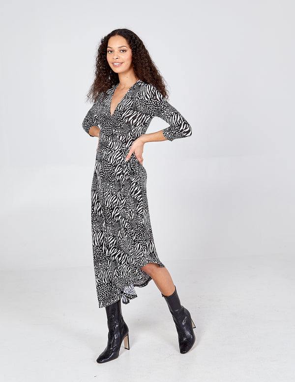 MAIZIE - Asymmetric Wrap Dress