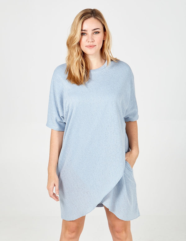 ELIZABETH - Oversized Asymmetric Pocket Tunic Dress