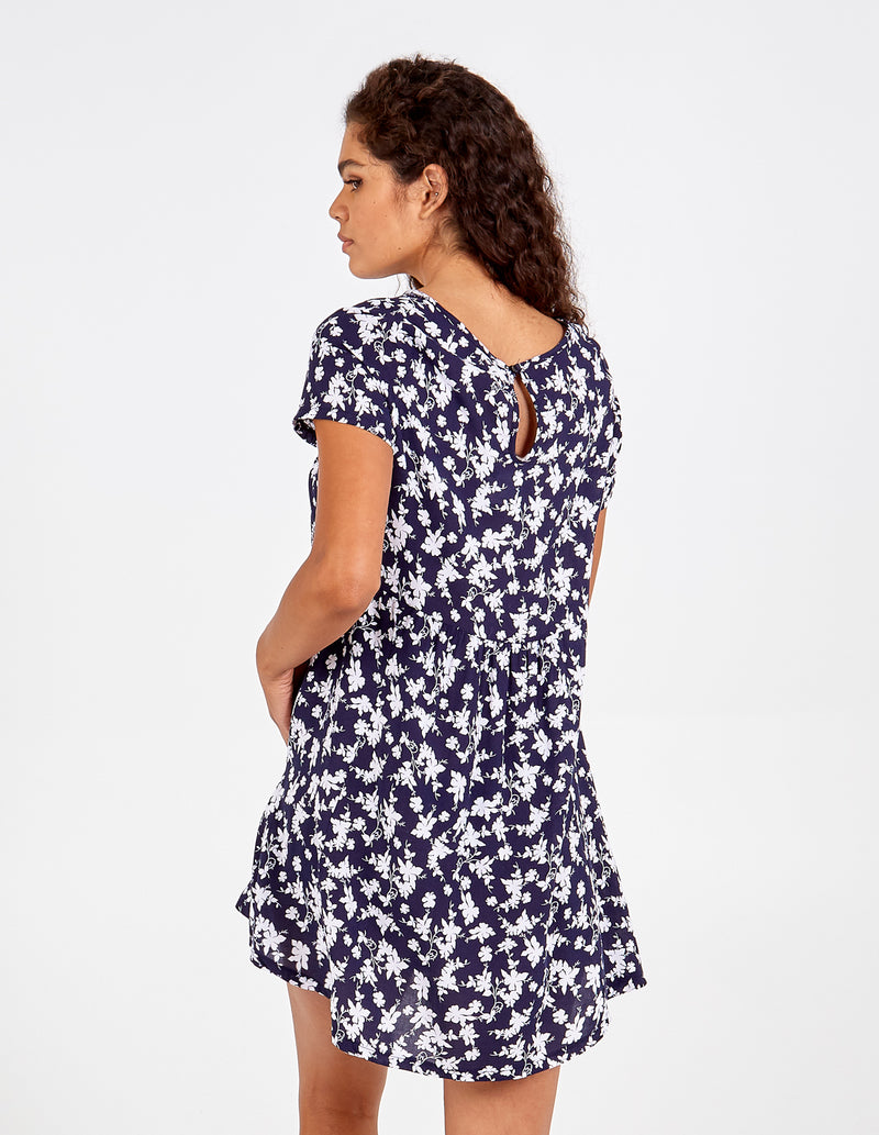 LILLIE - Pleated Front Patch Pocket Swing Dress