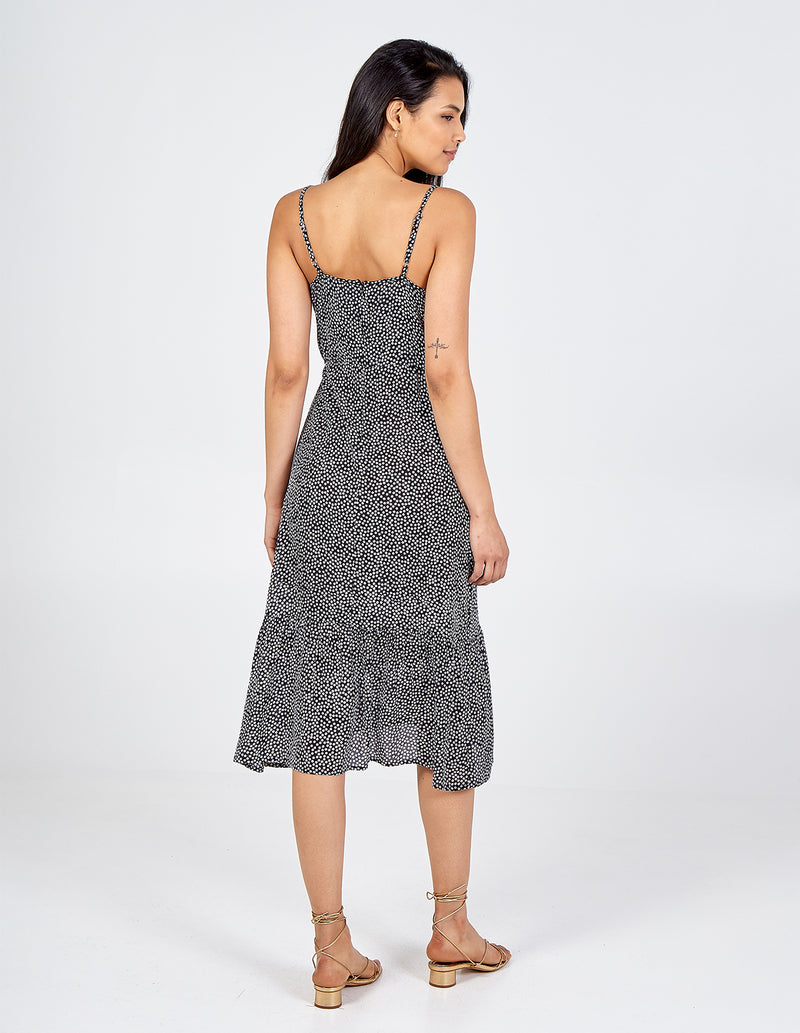 ESMAY - Cami Strap Tiered Midi Dress