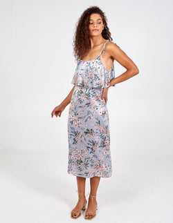 TAYLA - Tie Strap Layered Cami Midi Dress