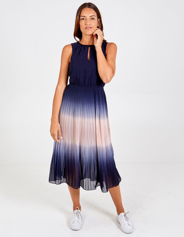 ZARAH - Tie Dye Pleated Midi Dress