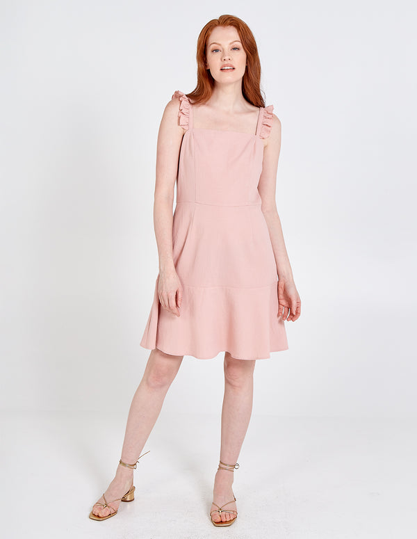 NYAH - Frill Square Neck Fit & Flare Dress