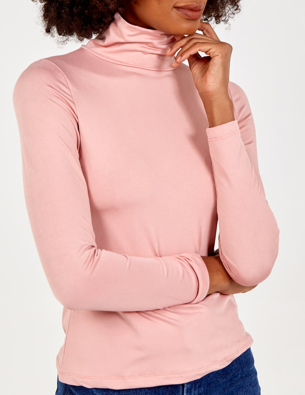 MACEY - Fleece Lined Roll Neck Top