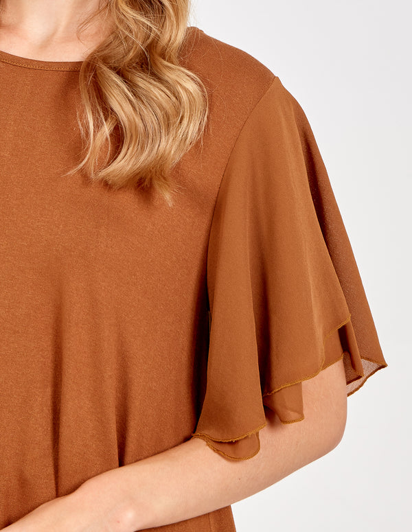 LOLITA - Hi-Low Frill Sleeve Top