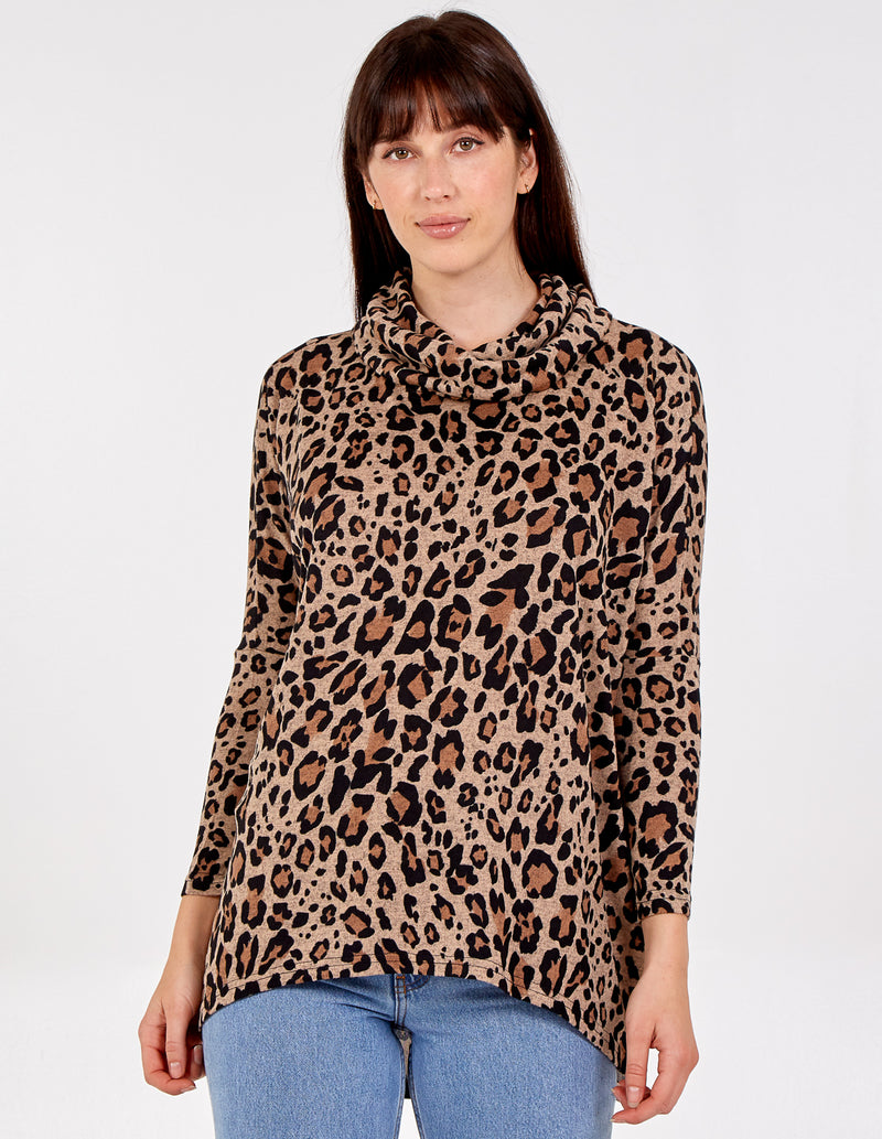 MANDY - Roll Neck High Low Batwing Top