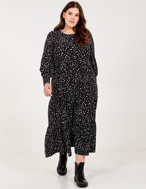 GRISELDA - Curve Long Sleeve Smock Dress