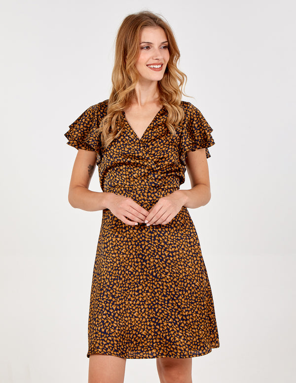 SIMONETTA - Animal Print Wrap Dress