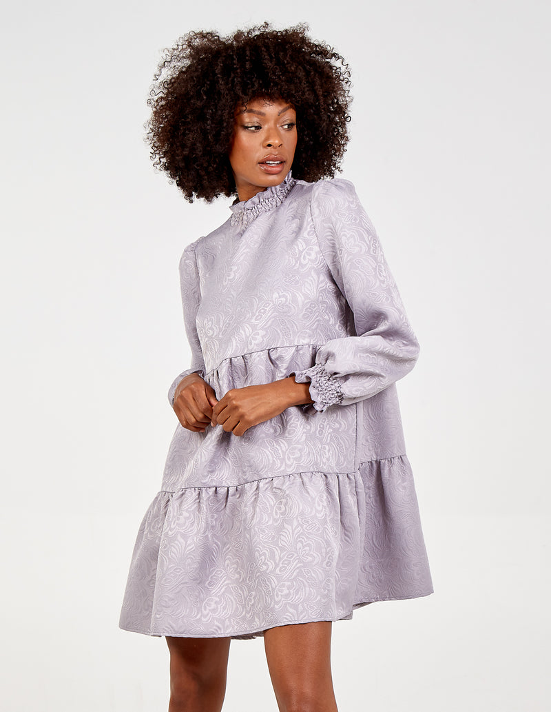 RUMAYSA - Shirring Smock Dress
