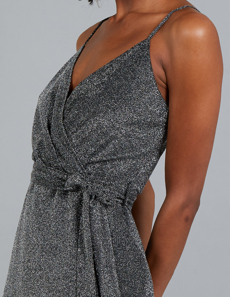 CAROLINA - Wrap Front Asymmetric Hem Dress