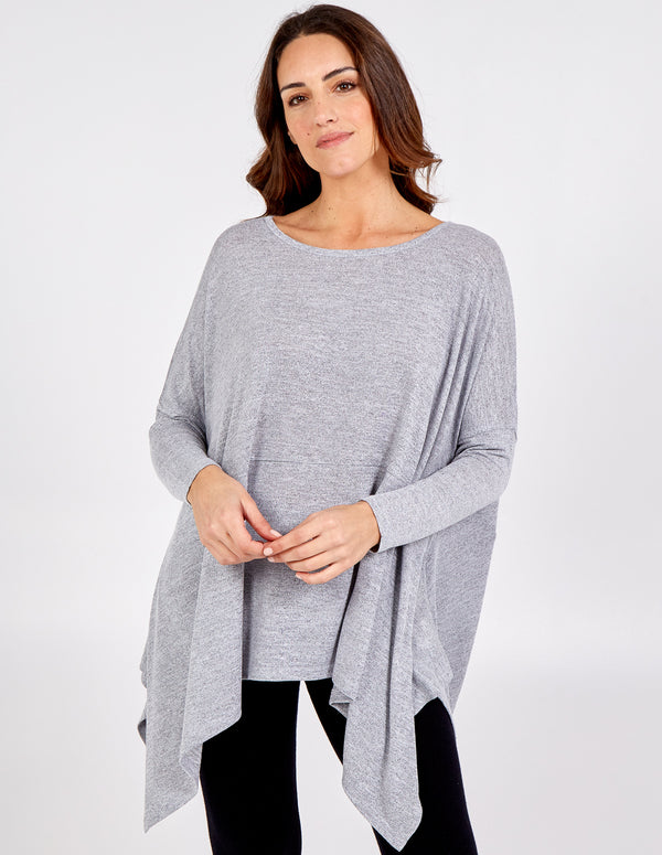 JULIA - Oversized Hankey Hem Top