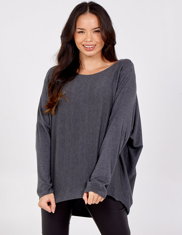 MABEL - Oversize Batwing Top