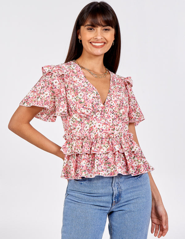 STEFANI - Frill Detail Top