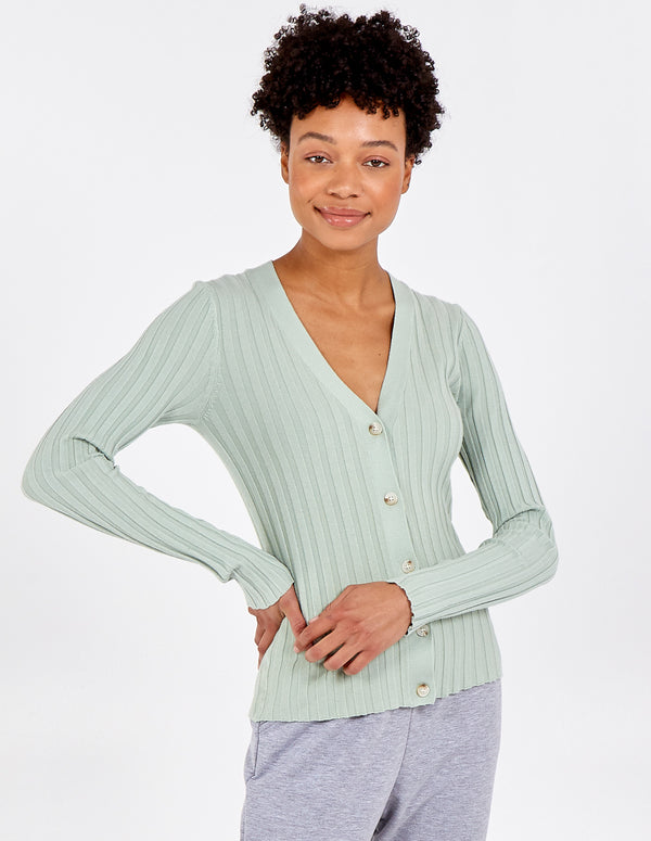 LISA - Ribbed Cardigan & Cami Set