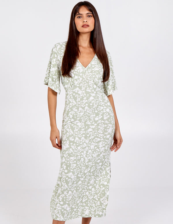 IYLA - Angel Sleeve Tea Dress