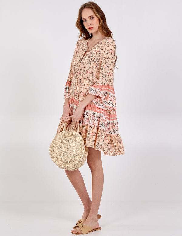 ESMEE - Button Front Smock Dress