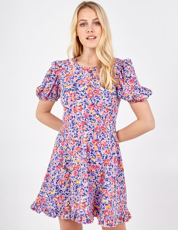 PIPER - Floral Puff Sleeve Mini Dress