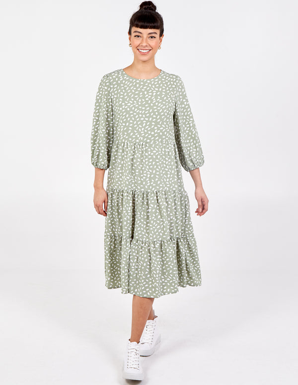 ABBY - 3/4 Sleeve Panelled Smock Dress