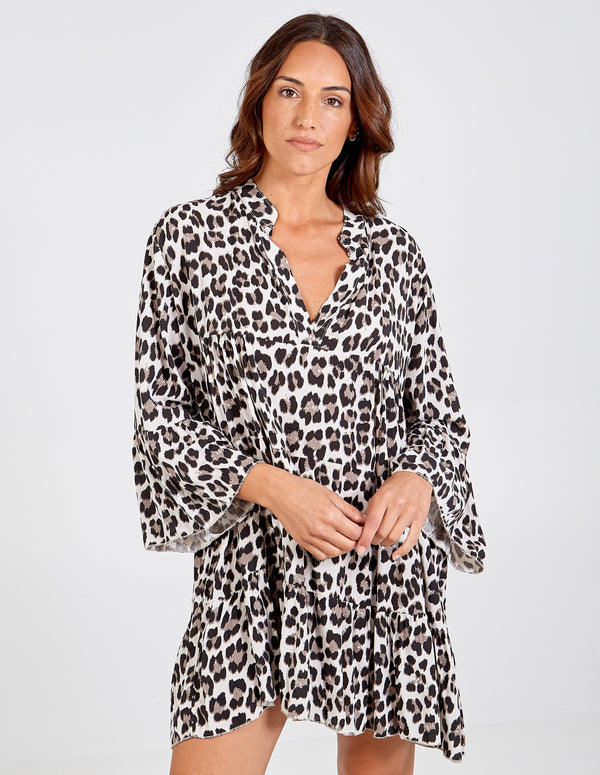 ENID - Long Sleeve Oversized Tunic Dress