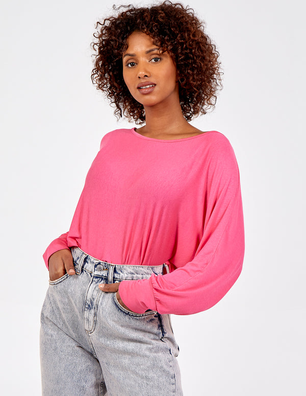 NIKITA - Oversized Long Sleeve Batwing Top