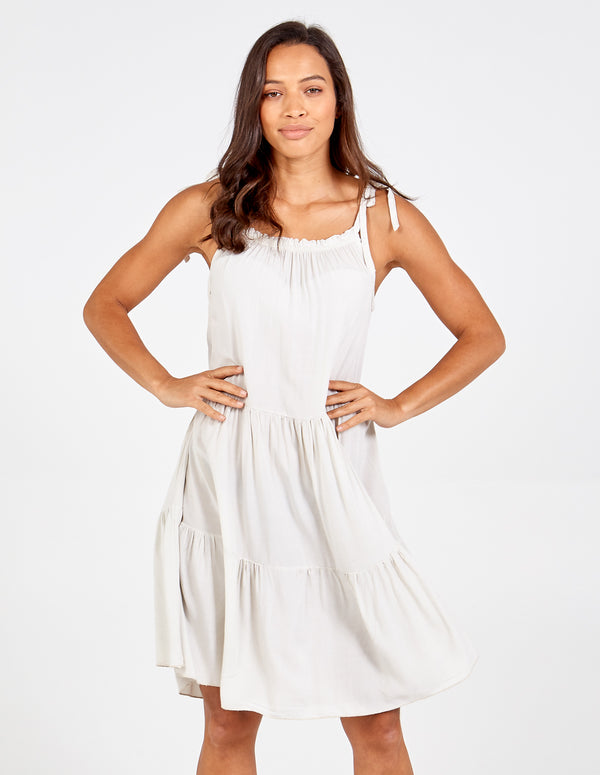 LENA - Tiered Strappy Sun Dress