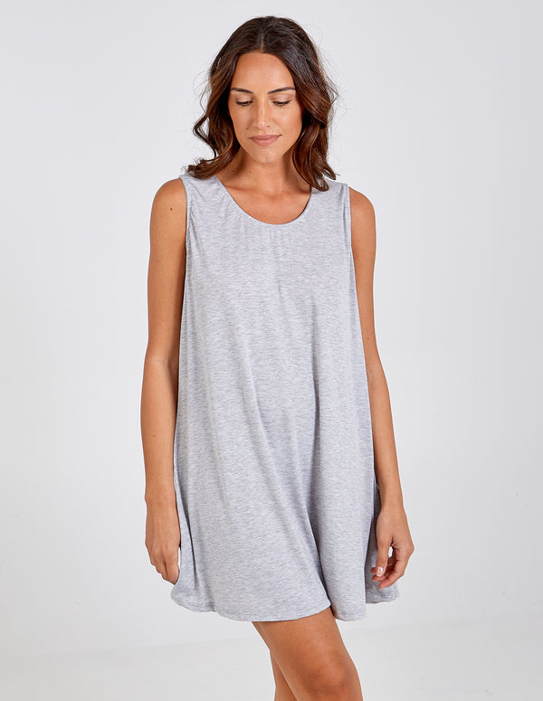 LORENA - Oversized Sleeveless Slip Dress
