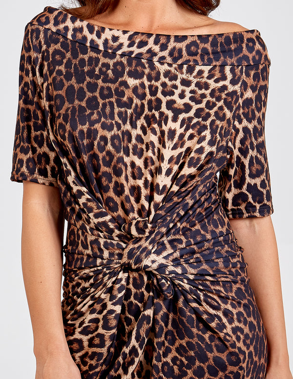 SAARA - Leopard Print Parachute Dress