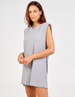 SERAFINA - Padded Shoulder Short Dress