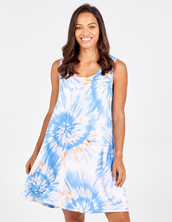 STEFANI - Tie Dye Swirl Mini Dress