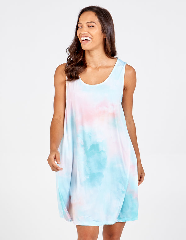 ORNELLA - Tie Dye Pastel Mini Dress