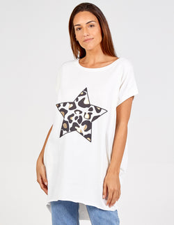 FABRIZIA - Star Leopard Printed Top