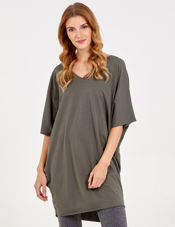 NINA - Double V Neck Tunic Top