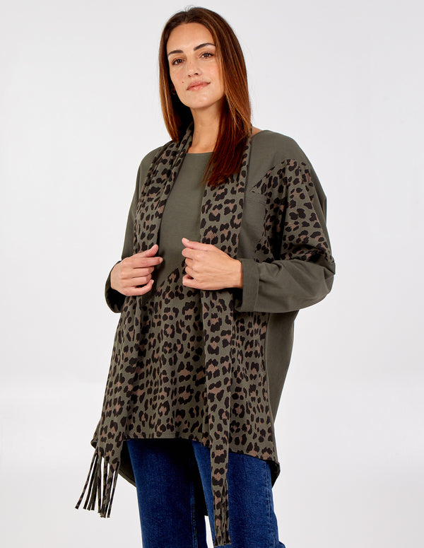 PEARL - Oversized Leopard Print Scarf Top