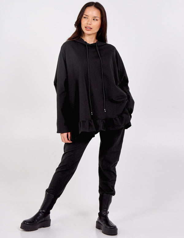 MACI - Frill Hem Hooded Top & Jogger Set
