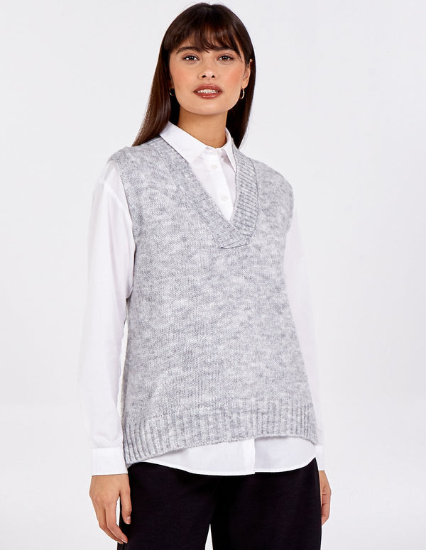 MAJA - V-Neck Sleeveless Sweater Vest