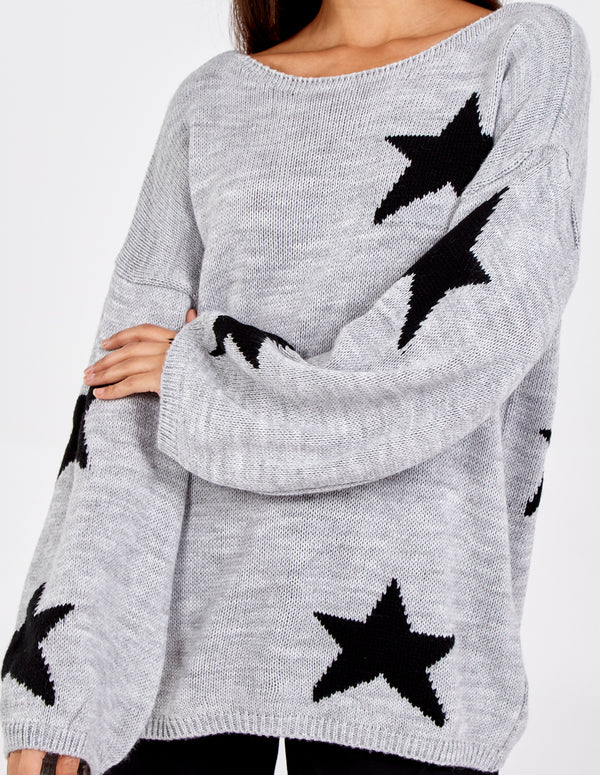 GIA - Slash Neck Star Jumper