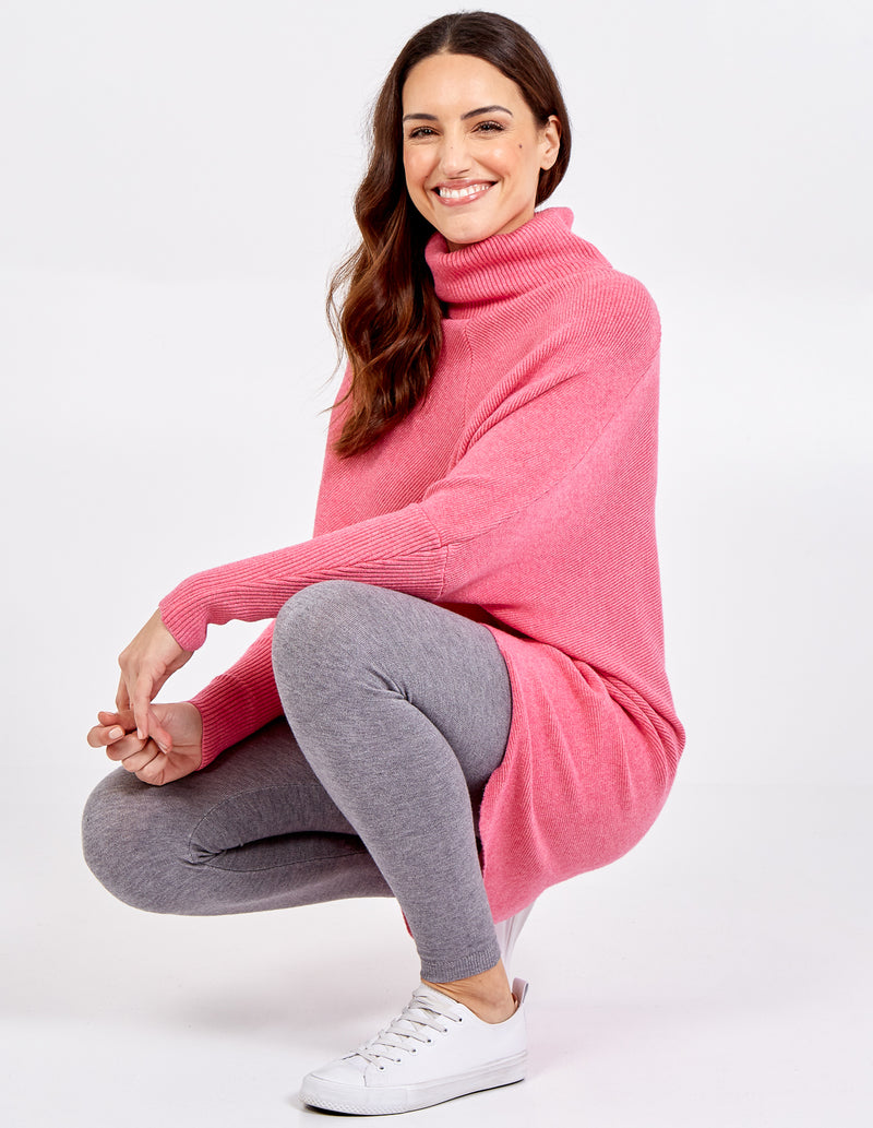RIVER - Roll Neck Oversized Tunic Jumper