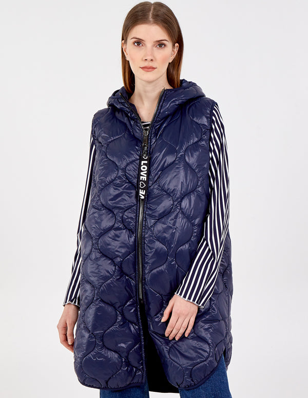 AGNES - Sleeveless Hooded Puffer Gilet