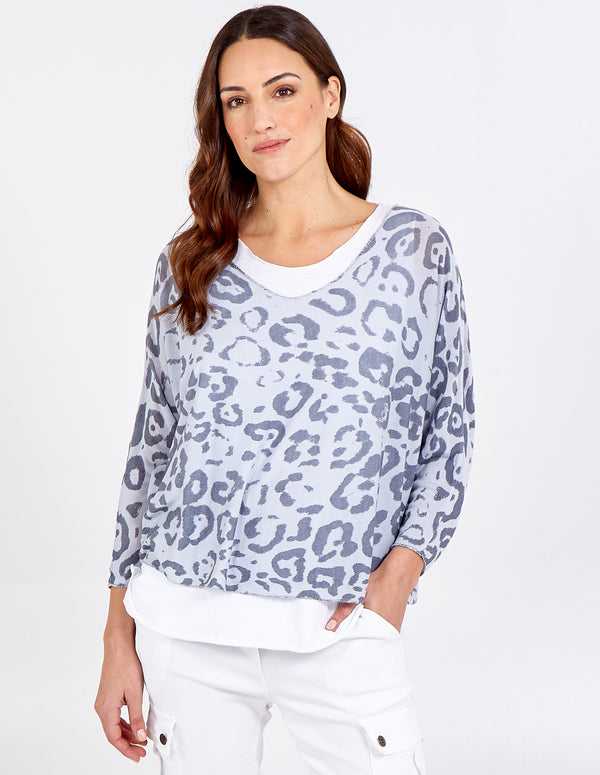 NEVE - 2 in 1 Animal Print Top