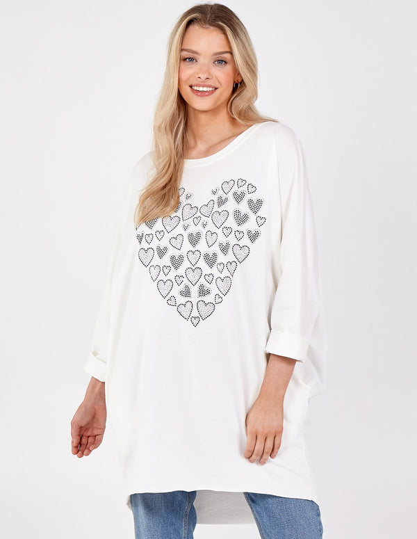 ELIZA - High Low Heart Sweatshirt