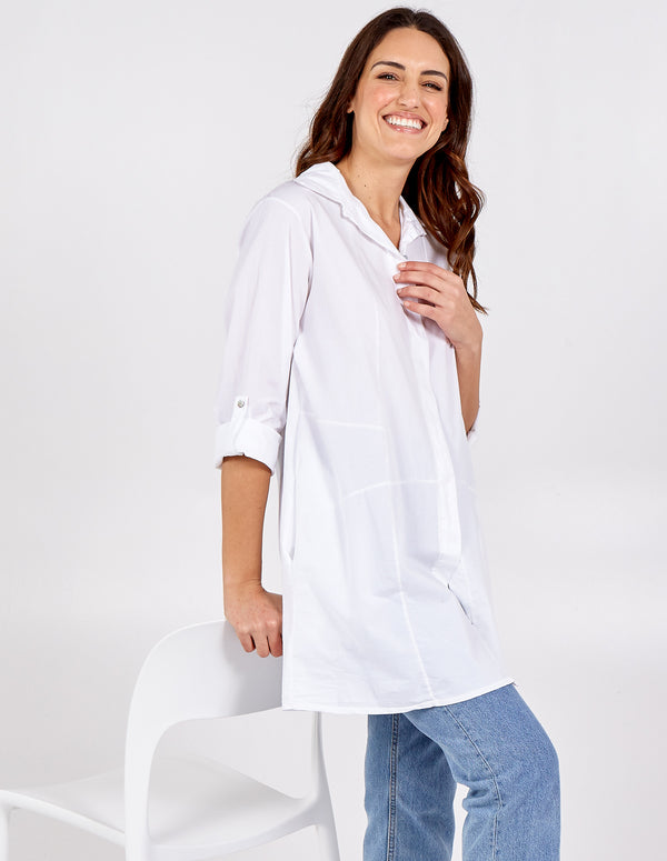 MELISSA - Button Through Oversized Shirt