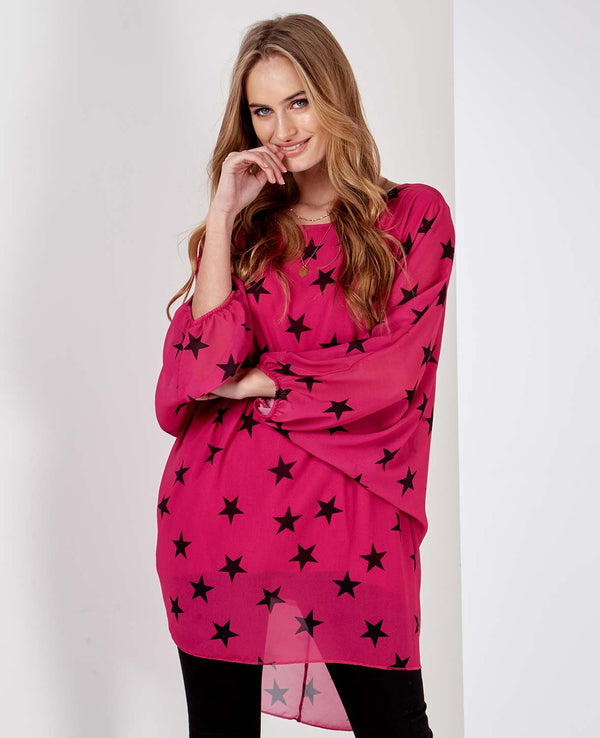 JADE - Satin Star Fuschia Top